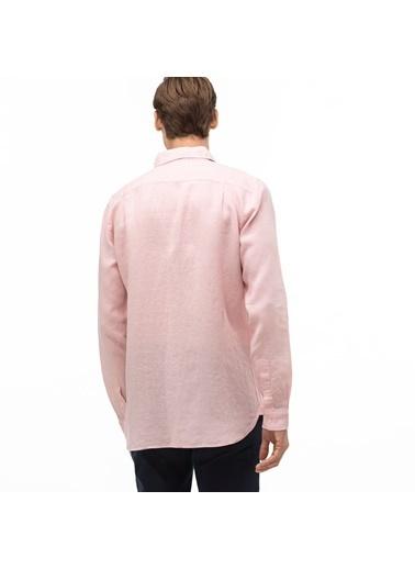 Lacoste Erkek Slim Fit Gömlek CH4990T.5MM Pembe